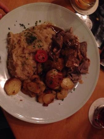 Brauhaus Joh. Albrecht: Delicious- a pork dish, I don't remember the name but essentially pork knuckle with sauce