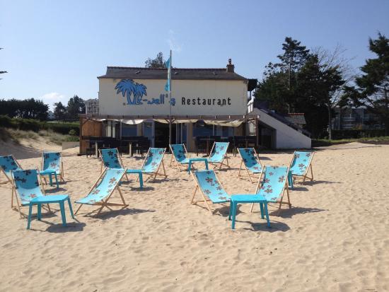 Bar restaurant Le Knell's: Et du sable et la mer, le soleil ne chercher plus le paradis c'est ici !!!!
