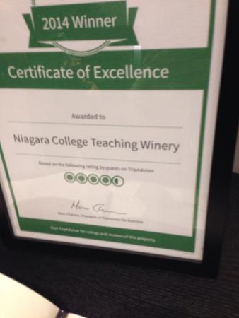 Niagara College Teaching Winery : Escola de ice wine