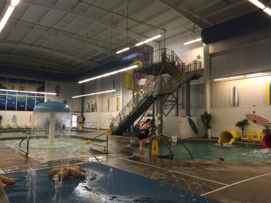 Slides From Indoor Waterpark Outside Playground Picture