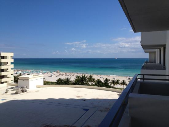 Loews Miami Beach Hotel Partial Ocean View From Our Balcony