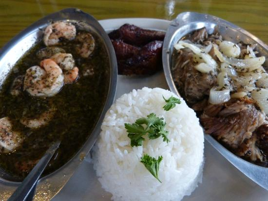 Habana Cafe: Combo Plate #14. Pork and Shrimp