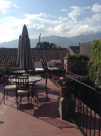 Hotel Meson del Valle: Terraza del hotel