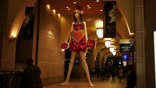 名古屋名铁百货店前NANA酱超高人体模特