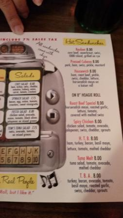 Carrabelle Junction : menu