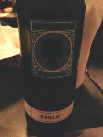 Bel Paese Italian Ristorante: Grillo white wine. Went really well with seafood and veal and grilled beef.