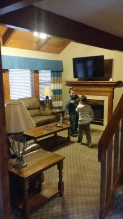 Tree Tops Resort: Pedestal cottage living room