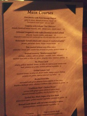 Caicos Cafe Bar & Grill : Menu, page 2