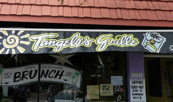 Tangelo's Grille : Sign for Tangelos