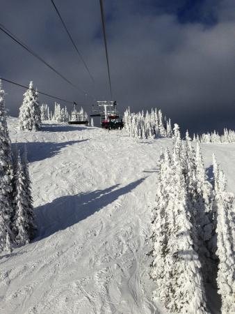 SilverStar Mountain Resort: Incredible snow!  Where are the skiers?