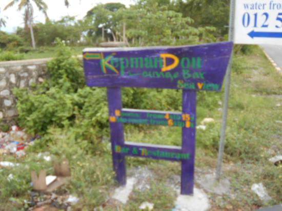 Kepmandou Lounge-Bar: sign