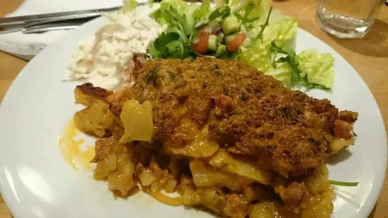 The Grapevine: Sweet potato and chorizo crumble