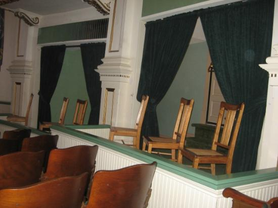 Box seating in the Brown Grand Theater