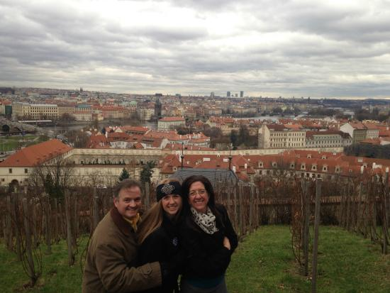 Nina Prague Guide - Tours: Amazing view of the city from the Castle Vineyards