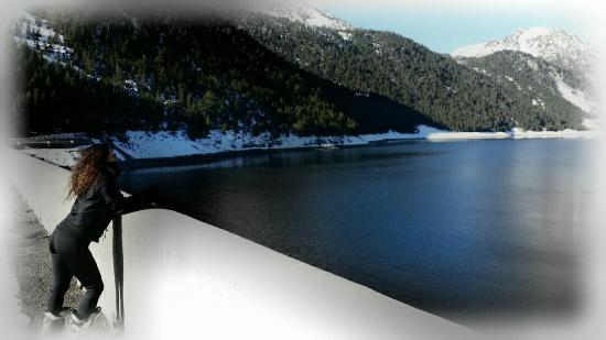 Station de ski - Saint Lary Soulan : Lac de l'oule. Magnifique paysage.