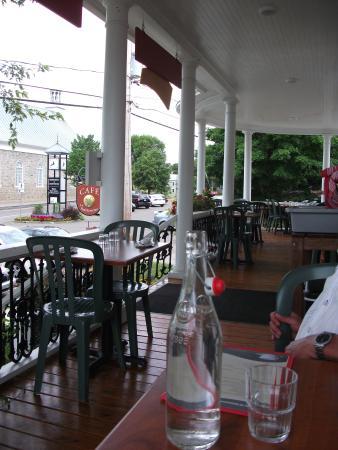 La Salicorne Cafe : Magnifique terrasse couverte, Café La Salicorne