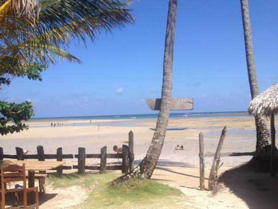 Paraíso: Vista do Restaurante na maré baixa