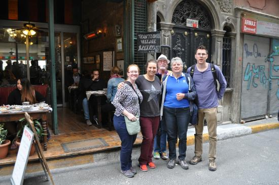 Offbeat Istanbul Walking Tours / Day Tours : Necla with our little tour group