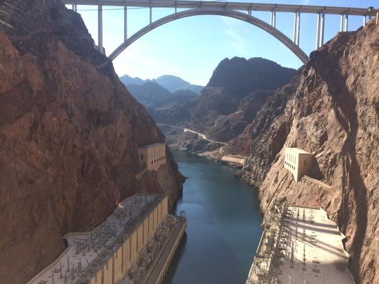 Boulder City/Hoover Dam Museum: Taken from air vent inside dam walls.