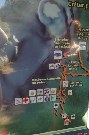 Poas Volcano National Park, Kostaryka: Placa Informativa