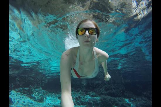 Amazing blue water! Gopro shot - Picture of Hoyo Azul ... - photo#20