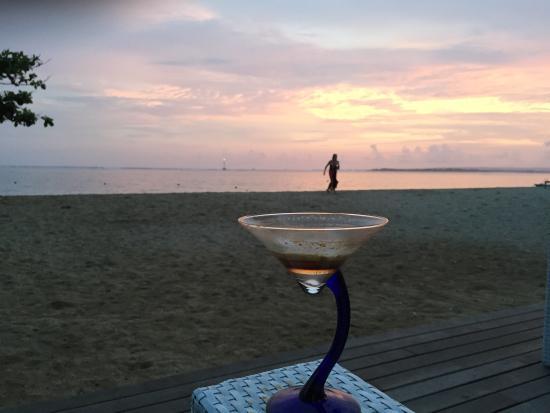 Prama Sanur Beach Bali: Sunset on the beach with Irish coffee