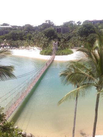 Tanjong Beach : Suspension bridge to Southernmost Point of Continental Asia