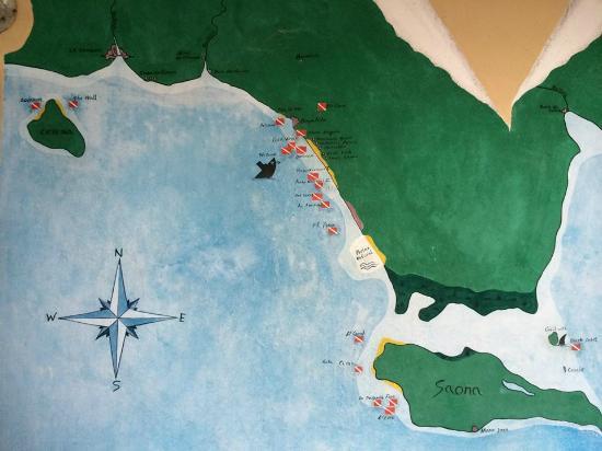 Vip Divers: карта погружений