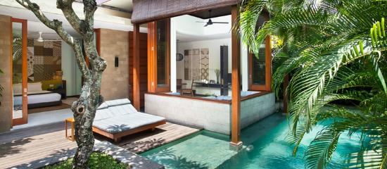 The Elysian: View from the bed - One bedroom villa