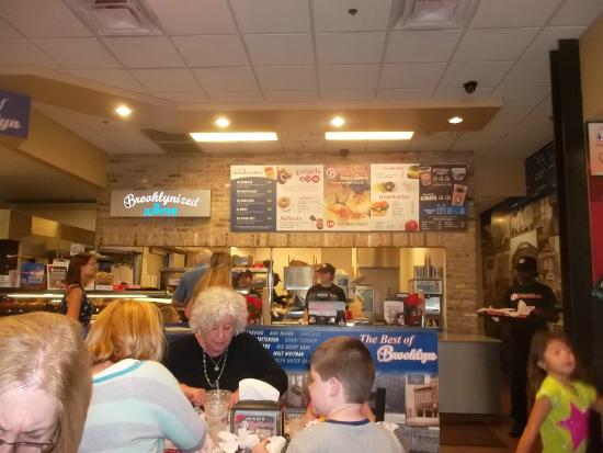 The Original Brooklyn Water Bagel Co.: serving area