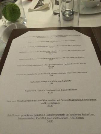 Restaurant Entler: Speisekarte