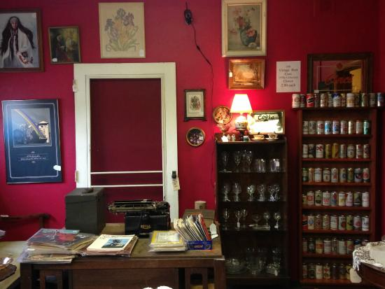HH Antiques, Collectibles U0026 Gifts: Red Room With Collectible Beer Cans  Display