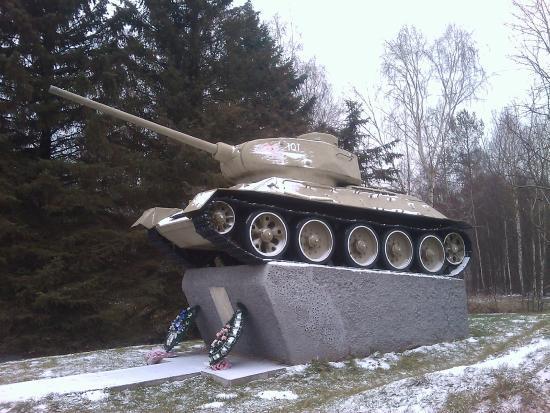 Ruzhany, Bielorrússia: Монумент с Танком