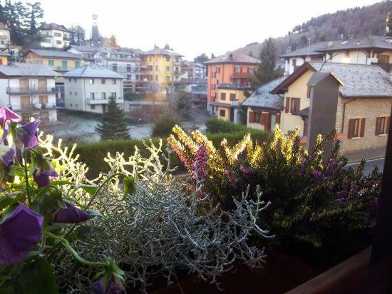 Albergo Relax : Vista sul paese dalle ampie finestre del ristorante.