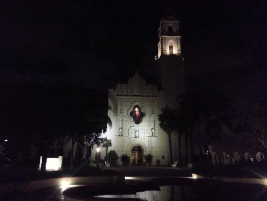 University of San Diego USD: Chapel on USD Campus at Night