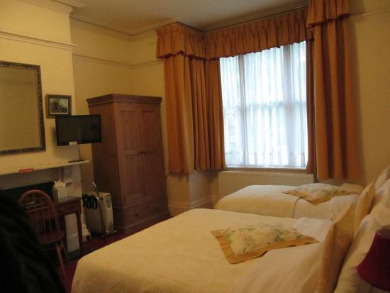 Langton House: Ground floor bedroom, showing window.