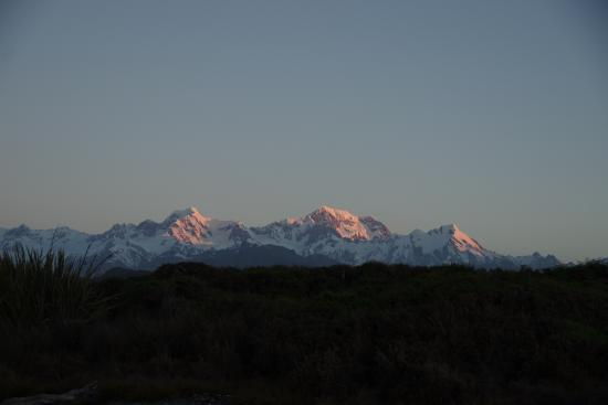 View of Mt Cook from Gillespies Beach