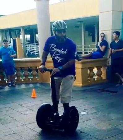 Segway Tours of Puerto Rico: quick training exercise before riding...