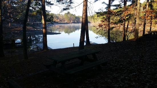 Lake Catherine State Park: View from our cabin on Christmas morning