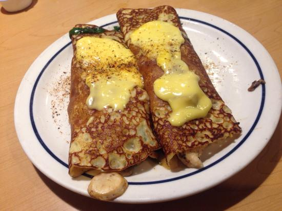 IHOP: Chicken spinach Swedish crepes