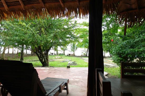 Coco Mango Lodge: La vue depuis la salle de restaurant