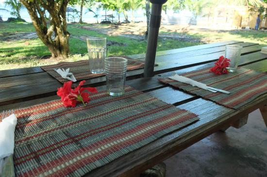 Coco Mango Lodge: Au matin avant le petit déjeuner