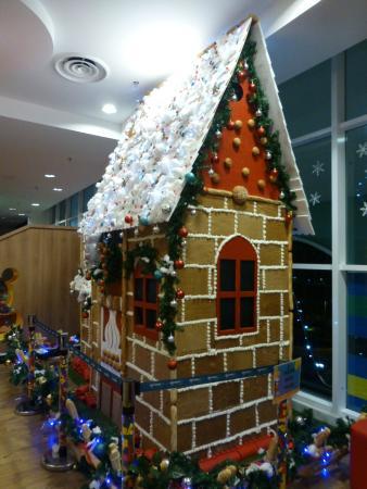 "Legoland Malaysia Resort: Christmas decorations outside ""Bricks"" restaurant"