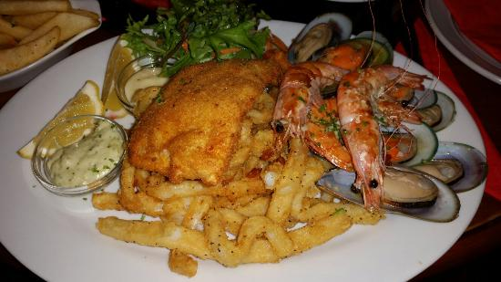 The Reef Steak And Seafood Restaurant Platter For One Generous Serving Of Fresh