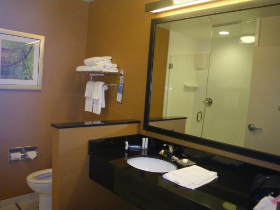 Fairfield Inn & Suites Elmira Corning: Bathroom