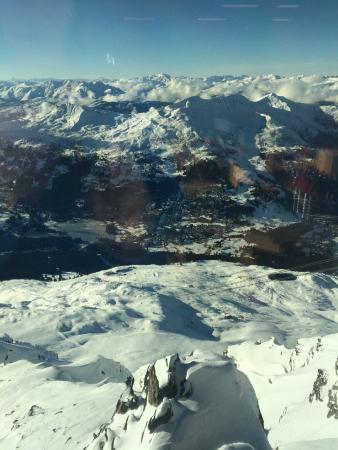 Ski resort Lenzerheide: View from the Rothorn