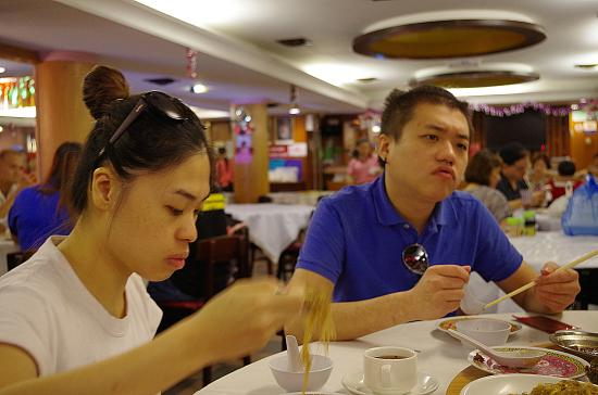 Dim Sum: Customers inside the restaurant