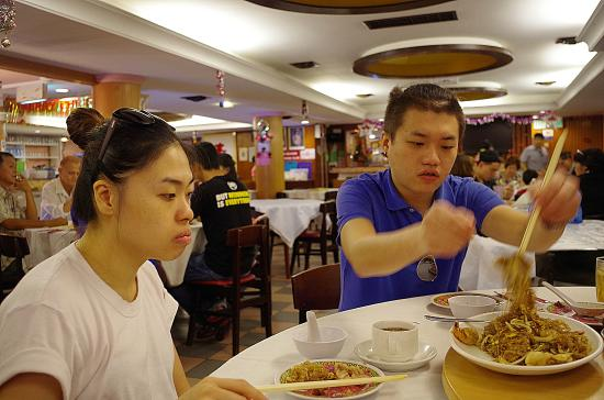 Dim Sum: Customers enjoying their food