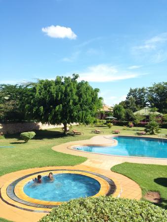 Flamingo Safari Lodge & Camp Site: swiming pool