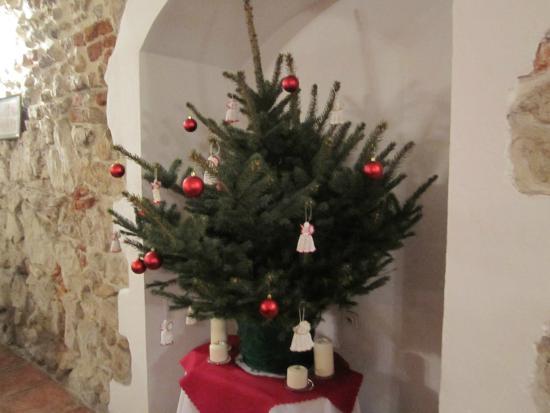 Wit Stwosz Hotel: Breakfast room at Christmas